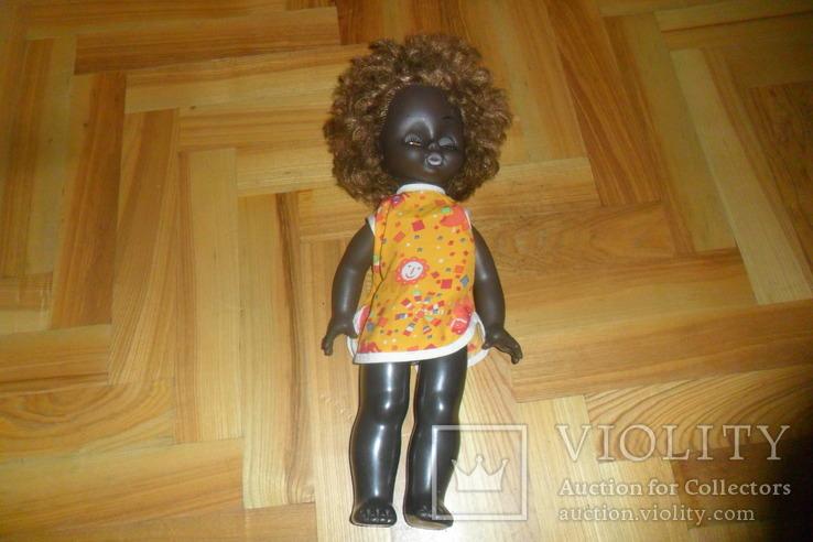 Кукла 40,5 см темнокожая черная, фото №2