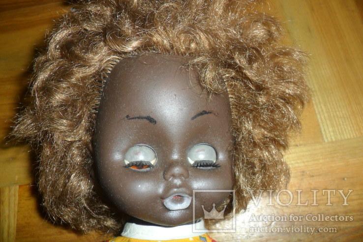 Кукла 40,5 см темнокожая черная, фото №3