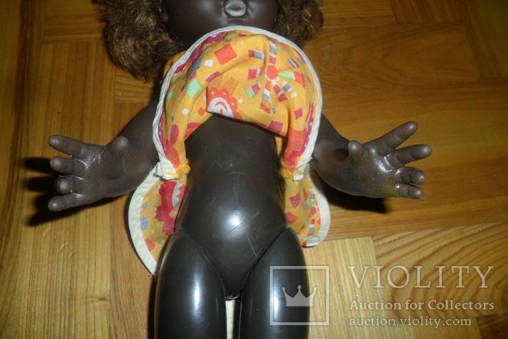 Кукла 40,5 см темнокожая черная, фото №5