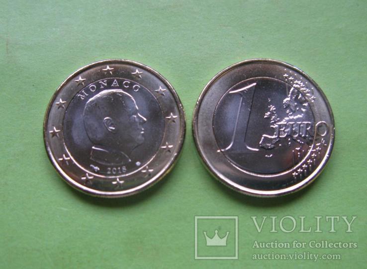 Монако 1 евро 2018 г. UNC.