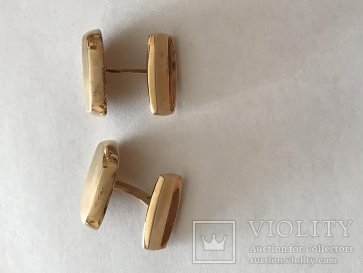 Золотые запонки 585 проба, фото №4