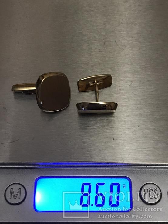 Золотые запонки 585 проба, фото №9