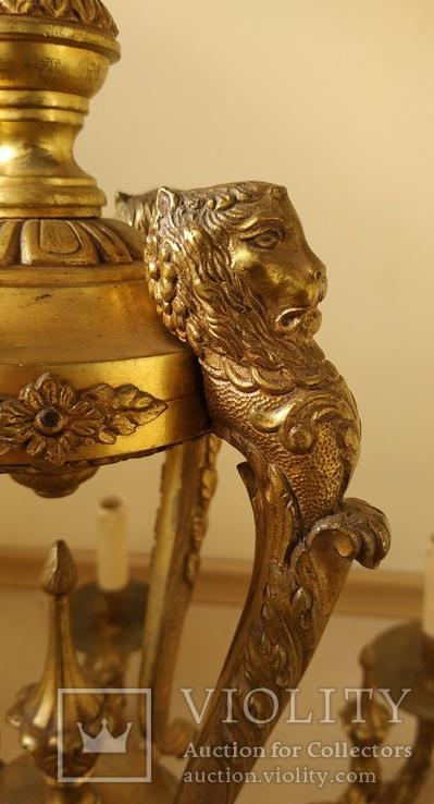 Большая бронзовая люстра 16 кг, фото №8