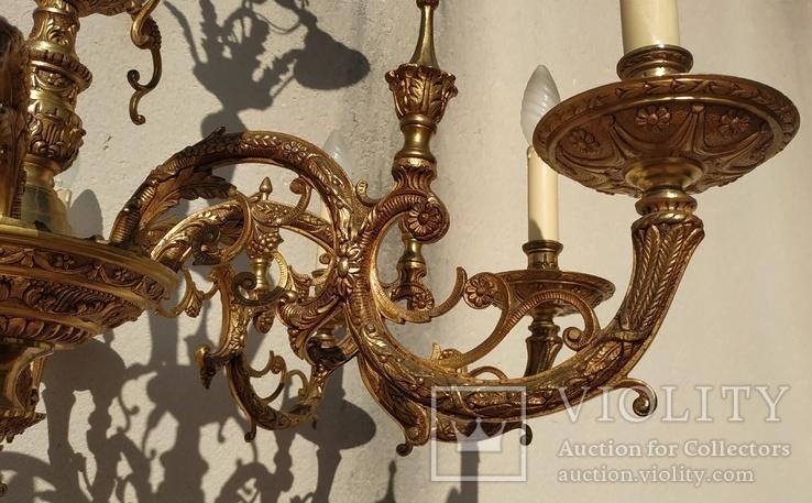 Большая бронзовая люстра 16 кг, фото №10
