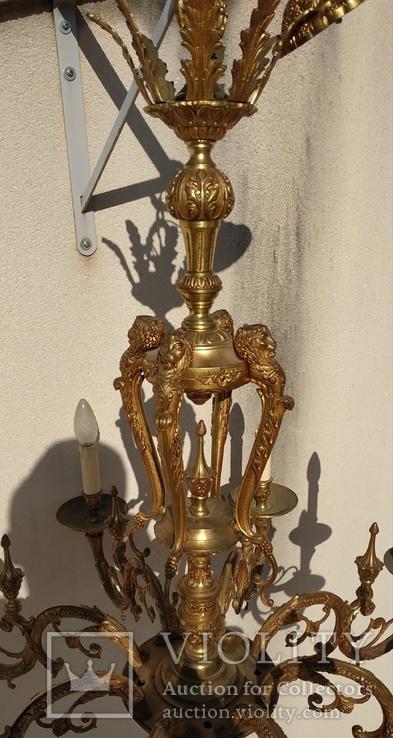 Большая бронзовая люстра 16 кг, фото №13