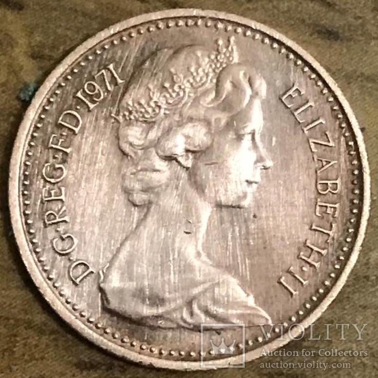 1/2 New penny 1971 Великобритания, фото №2