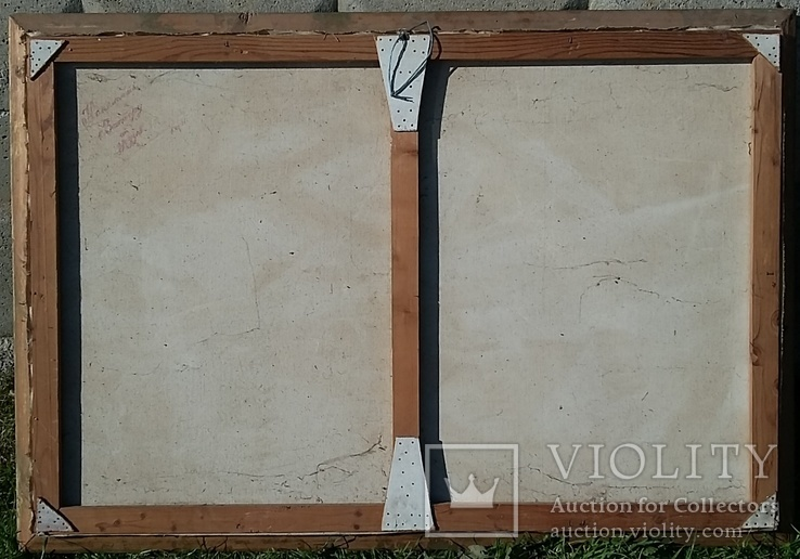 Картина. Осень. Закарпатский художник. Холст/масло 80,5 х 120,5 см., фото №5