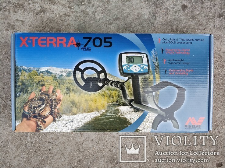 "Minelab X-Terra 705 (гарантія) + Coiltek 15"" 7.5"