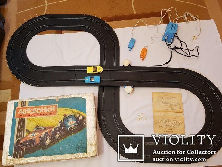 Трек 5 метров Рабочий  полный комплект СССР автогонки электромеханическая игрушка