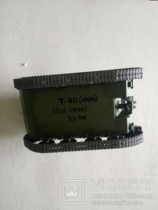 Модель танка Т-40   1/35, фото №9