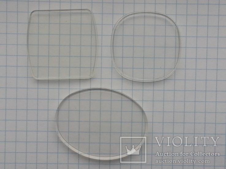 Фигурные стекла к часам Полет 3 шт, фото №2
