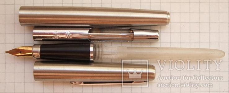 """Новая перьевая ручка """"Wing Sung-220"""" 1989 года. Пишет мягко и тонко., фото №4"""