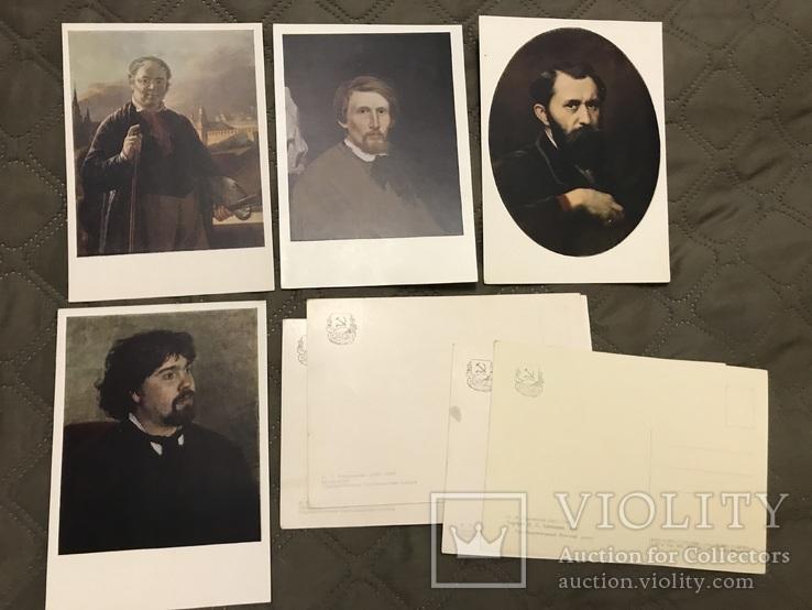 Набор открыток «портреты русских художников», фото №3