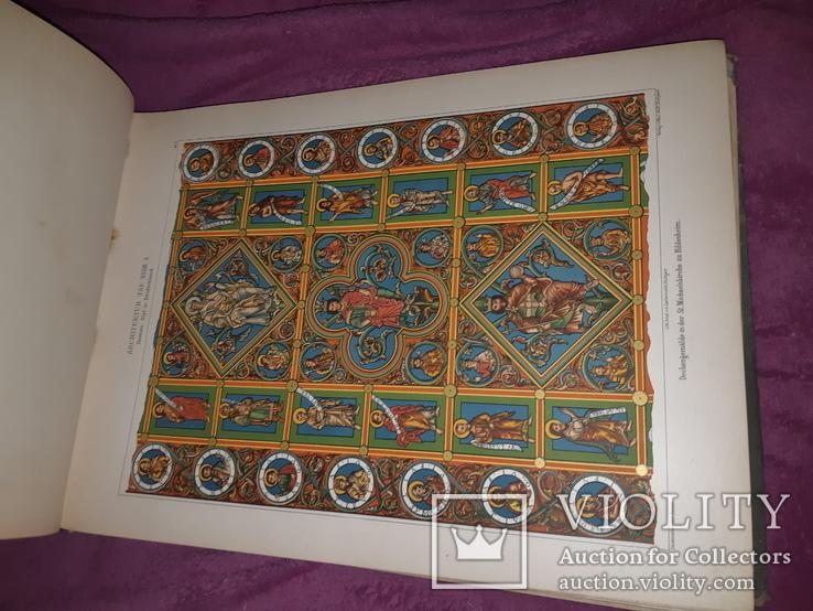 1890-e Архитектура с древнейших времен 43х31 см. со 203 гравюрами на отдельных листах, фото №5