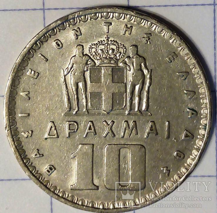 Греция 10 драхм 1959, фото №3