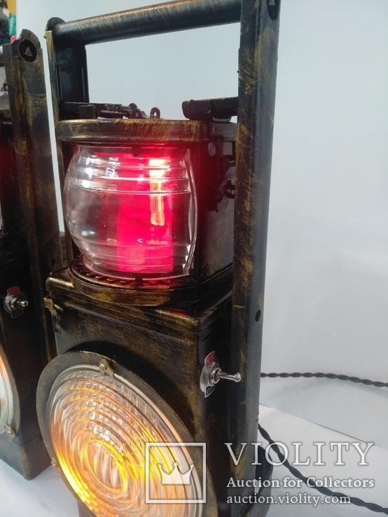 Светильник ручной работы Железнодорожный фонарь, фото №3