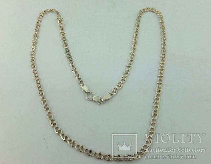 Цепочка серебро (№26), фото №5