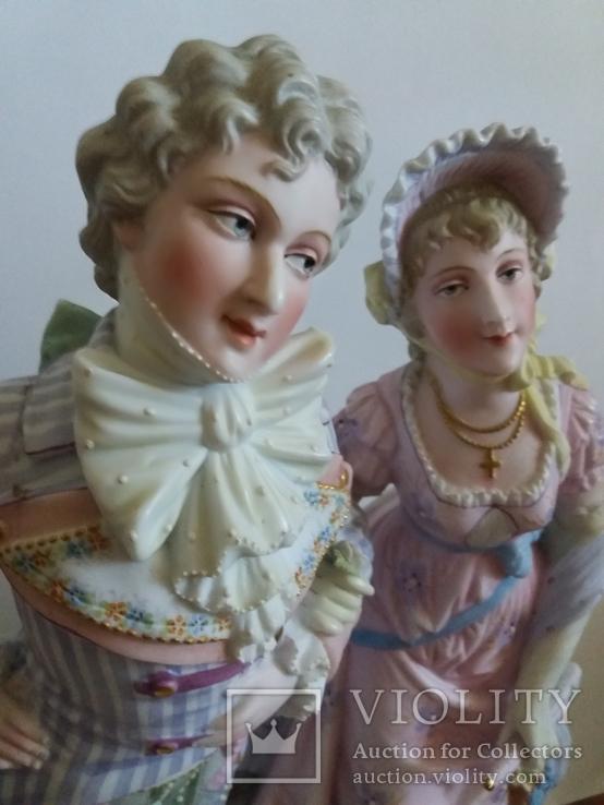Большая пара бисквит. Германия довоенная., фото №4