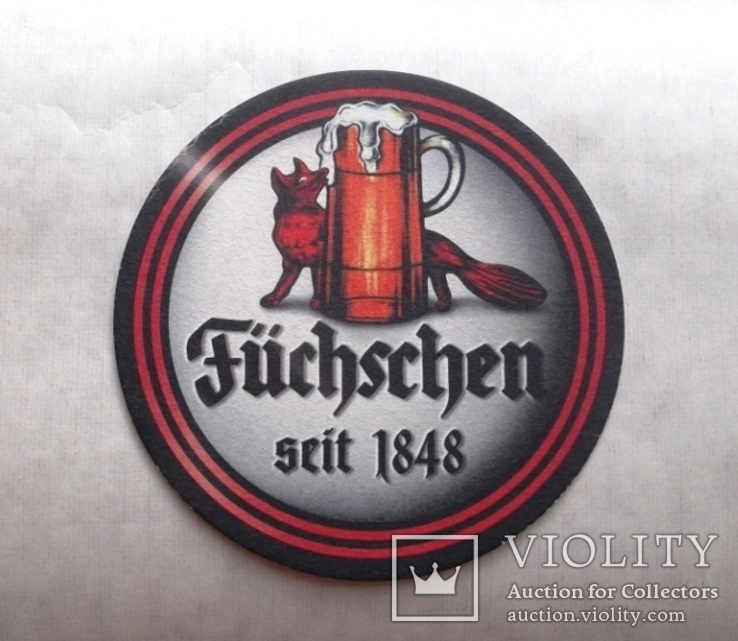 "Костер бирдикель  пиво ""Füchschen"", Германия, фото №2"