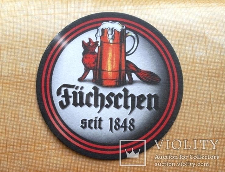 "Костер бирдикель  пиво ""Füchschen"", Германия, фото №4"