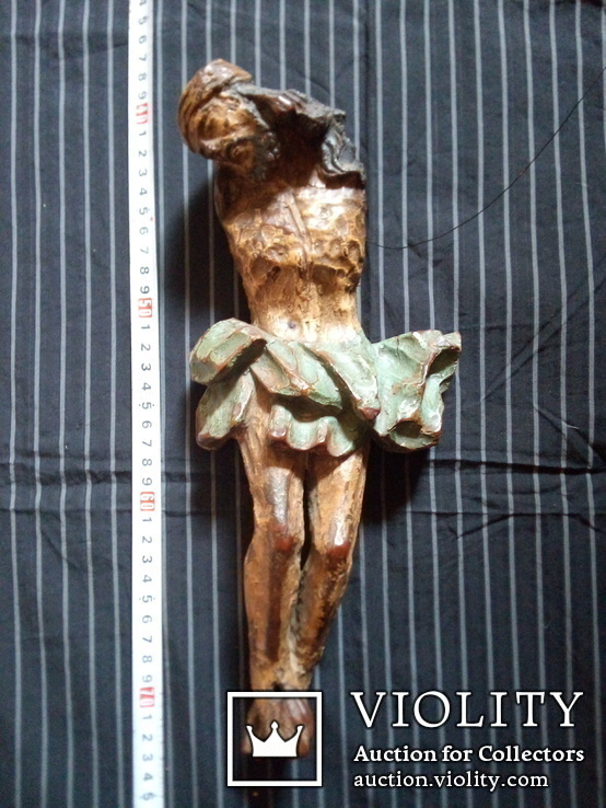 Полихромная скульптура Розпяття
