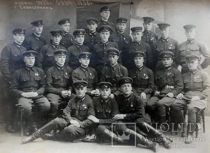 Групповое  фото  выпускников Севастопольское училище зенитной артиллерии 1935 -1938 года