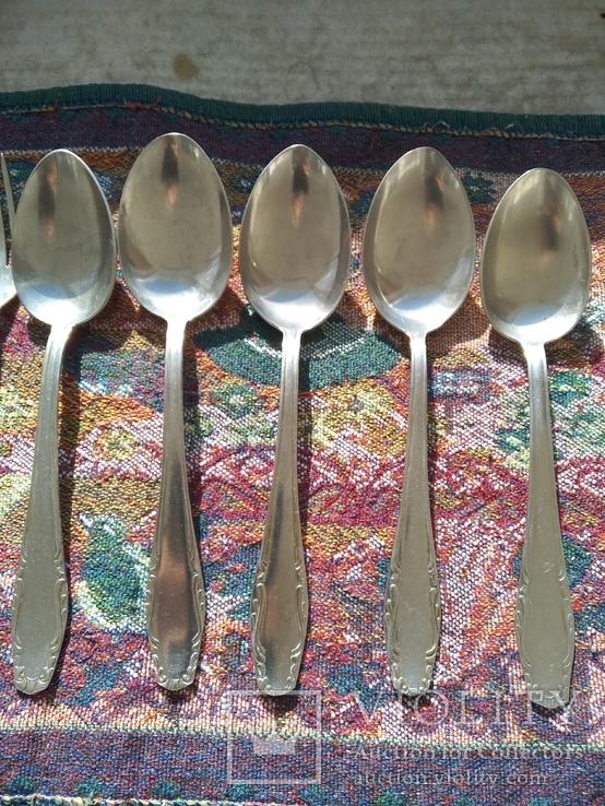 Набор 5 ложек и 4 вилки нержавейка, фото №3