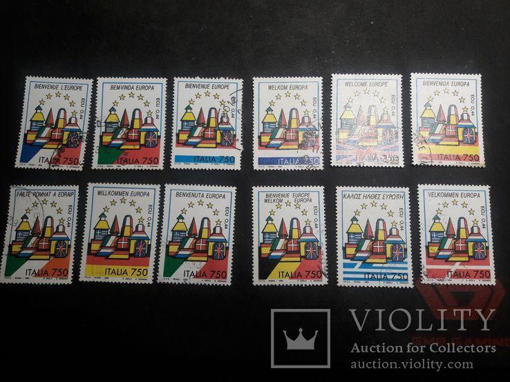 Марки Италии 1993 г., фото №2