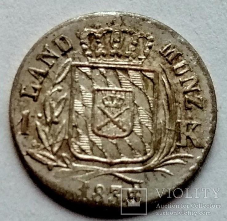 Бавария 1 крейцер 1835 год серебро, фото №3