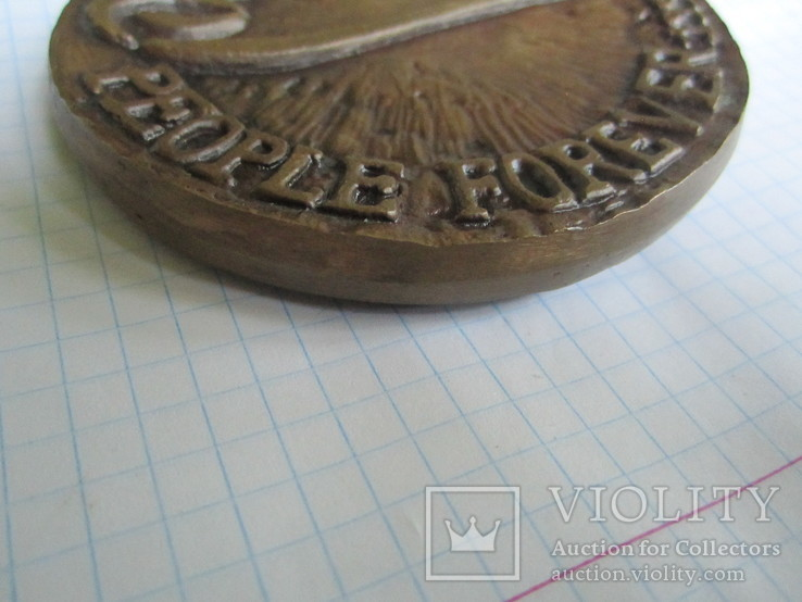 Настольная медаль-большая и тяжелая., фото №4
