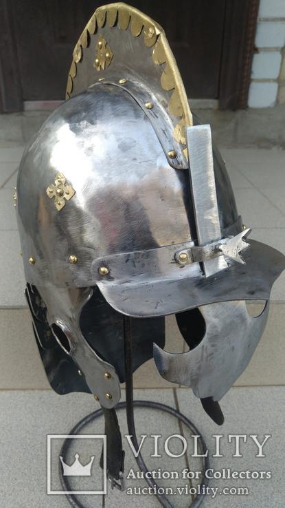 Шлем Польского крылатого гусара 17 век. (Копия), фото №5