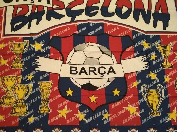 21. Флаг FC Barselona 133х97см, новый, фото №4