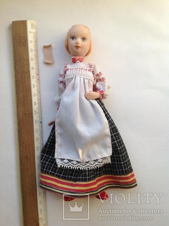 Фарфоровая кукла на резинках под востановление, фото №2