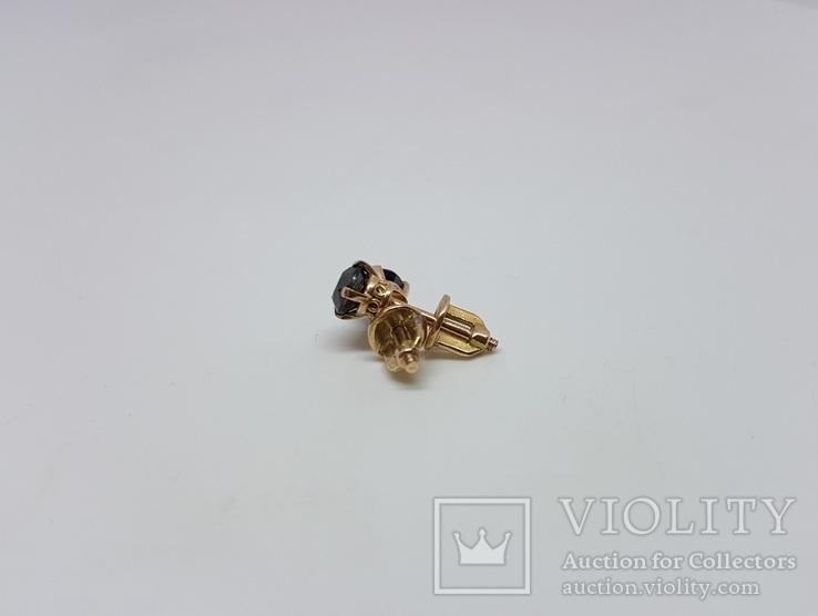 Сережки с чёрными бриллиантами 0,81 карат, фото №5