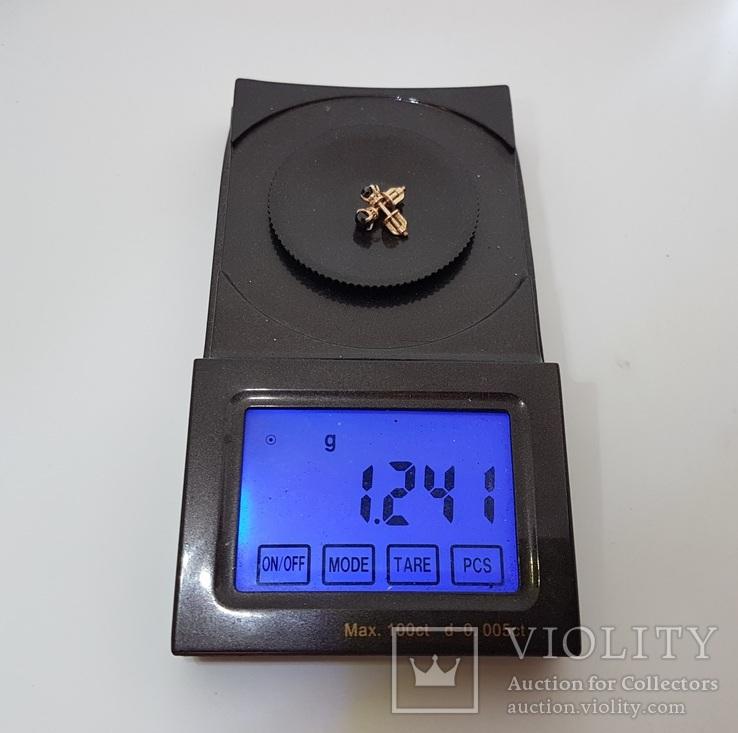 Сережки с чёрными бриллиантами 0,81 карат, фото №6