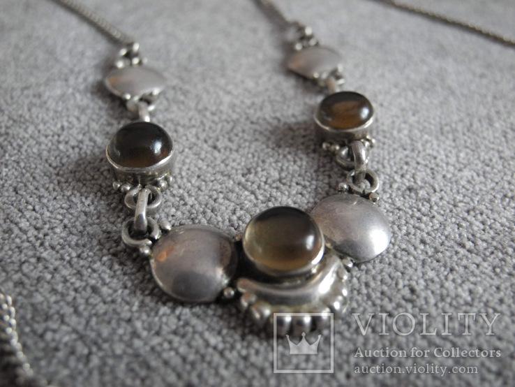 Серебряное ожерелье с камнями ( серебро 800 пр, вес 11,8 гр), фото №7