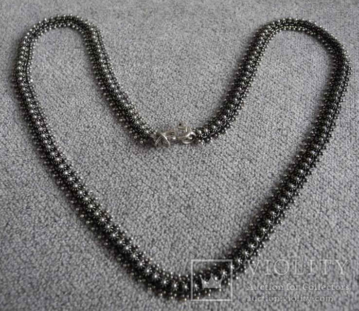 Серебряное ожерелье (серебро 925 пр, вес 18 гр), фото №4