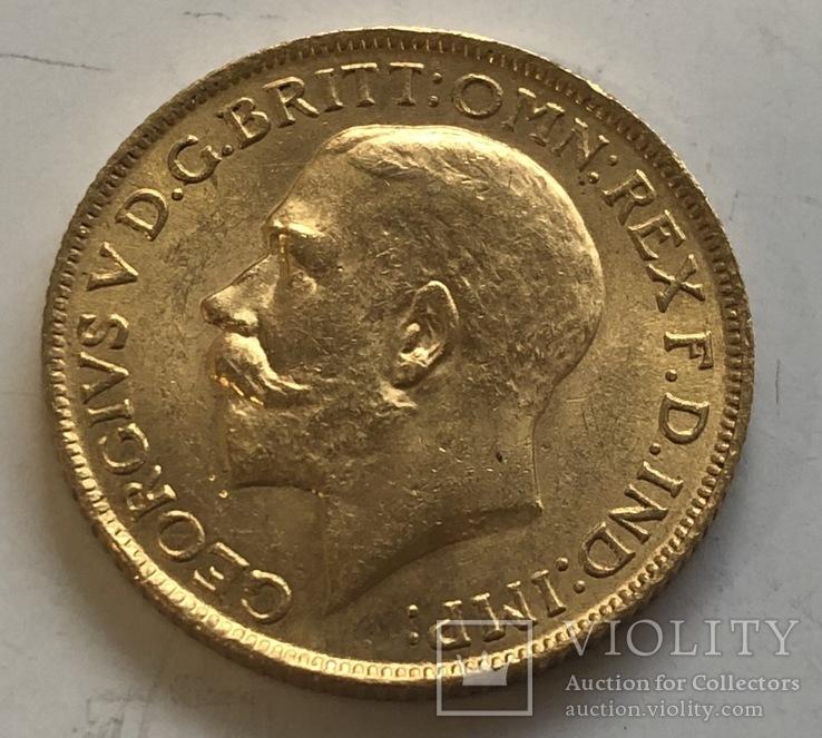 Соверен 1918 года (I) Британская Индия Бомбей золото 7,98 грамм 917'