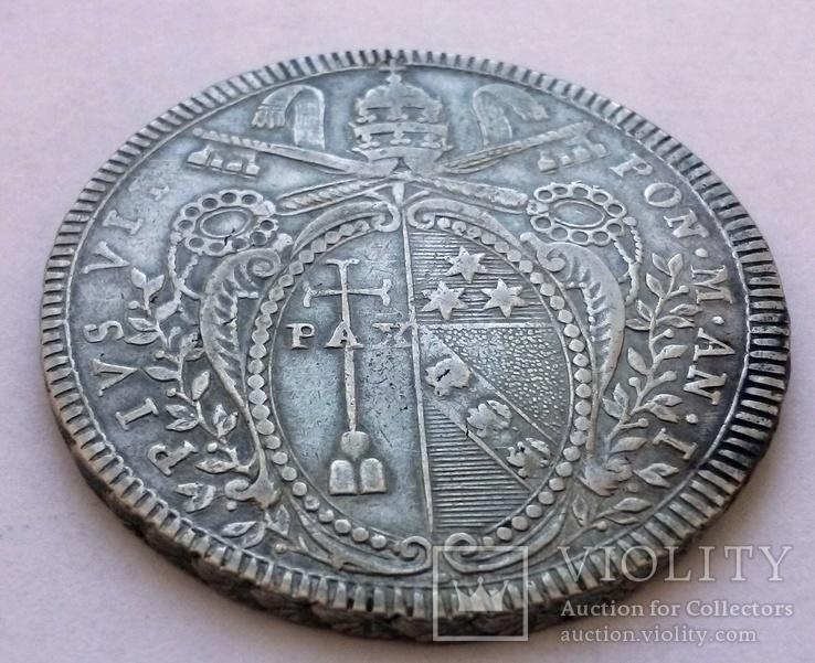 1 скудо 1800 Ватикан, срібло, фото №8