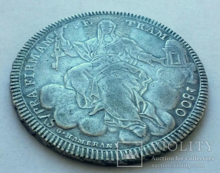 1 скудо 1800 Ватикан, срібло, фото №9