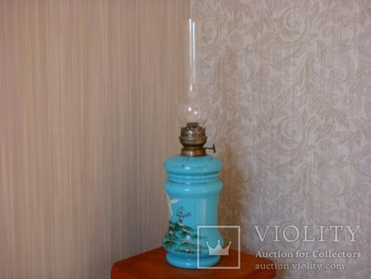 Старинная керосиновая лампа, фото №3