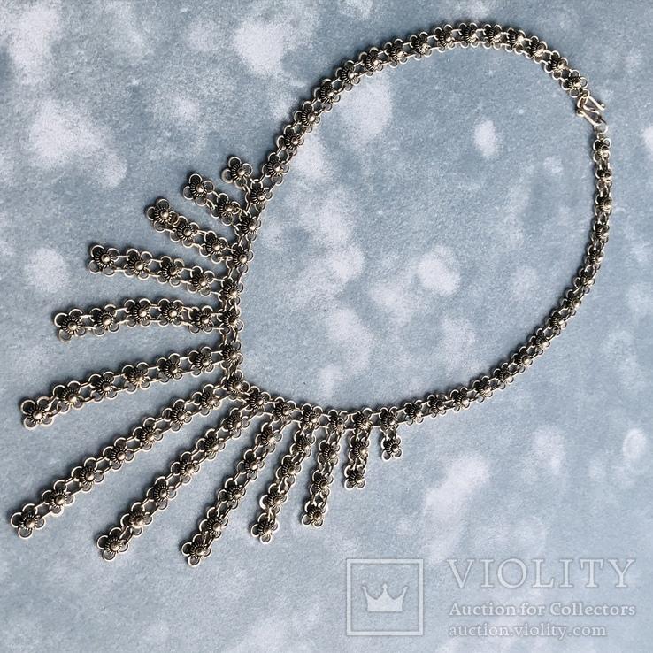 Серебряное колье 35,88 грамм, фото №3