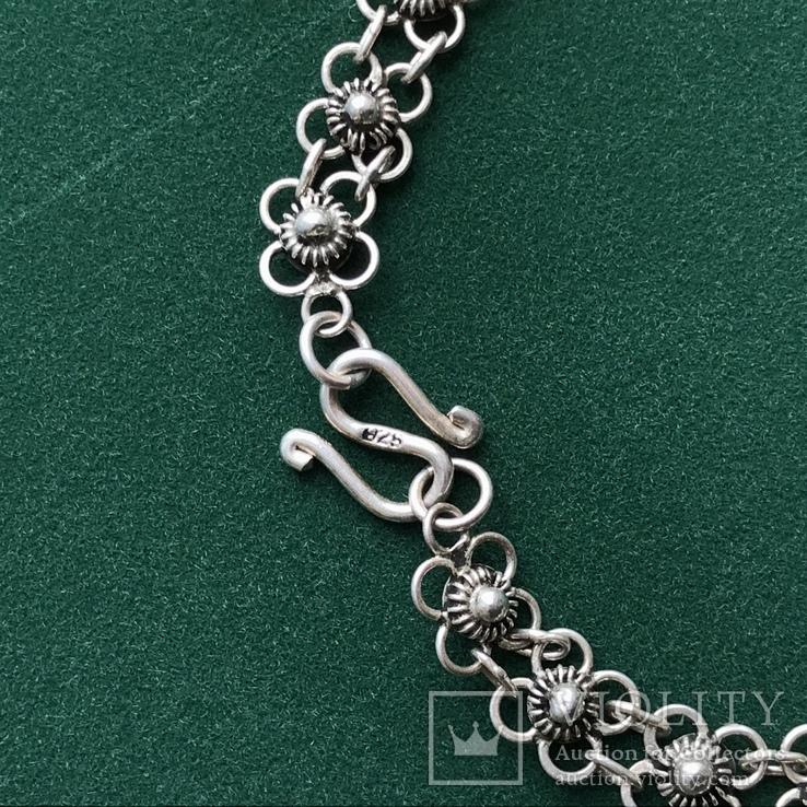 Серебряное колье 35,88 грамм, фото №4