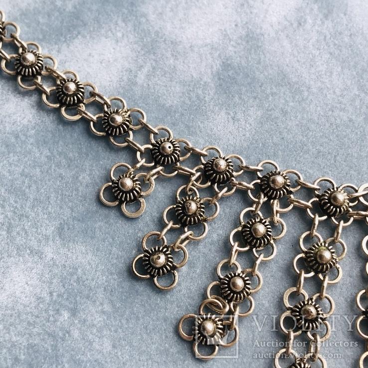 Серебряное колье 35,88 грамм, фото №6