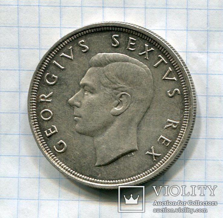 Британская Южная Африка 5 шиллингов (Крона) 1948 Георг VI, фото №3