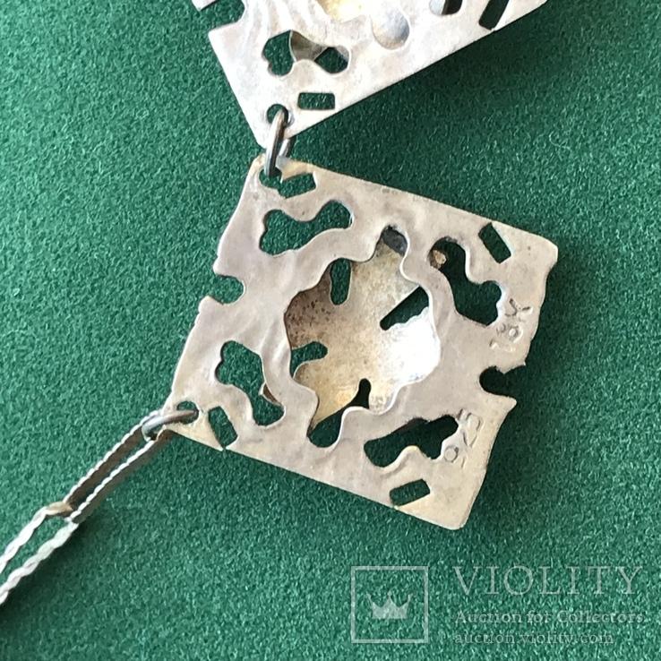 Колье серебро / золото , вес 25 грамм, фото №3