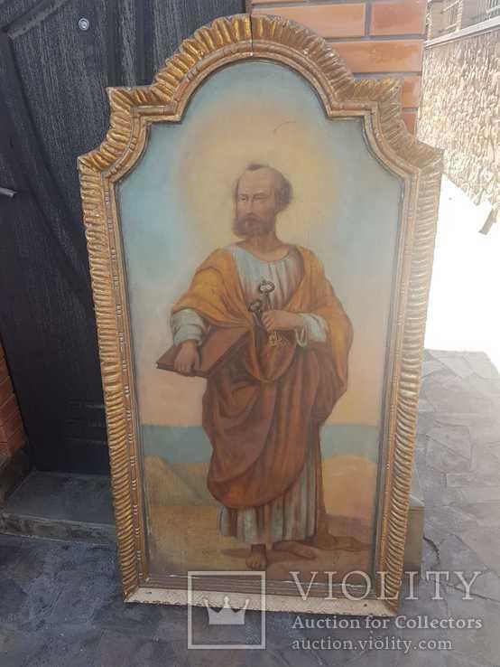 Икона Апостола Петра большая середина 19 века, фото №2