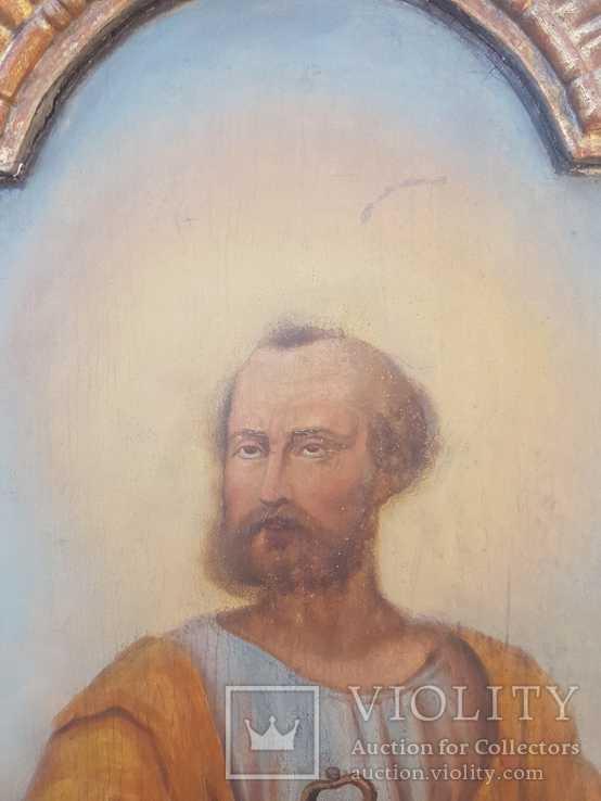 Икона Апостола Петра большая середина 19 века, фото №5