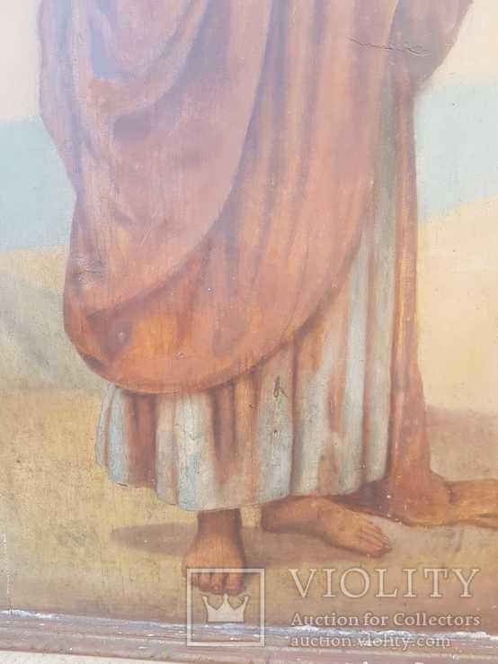 Икона Апостола Петра большая середина 19 века, фото №7