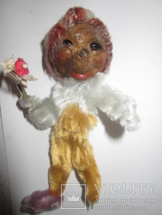 Ёжик ёж с цветами папье маше ГДР, фото №2